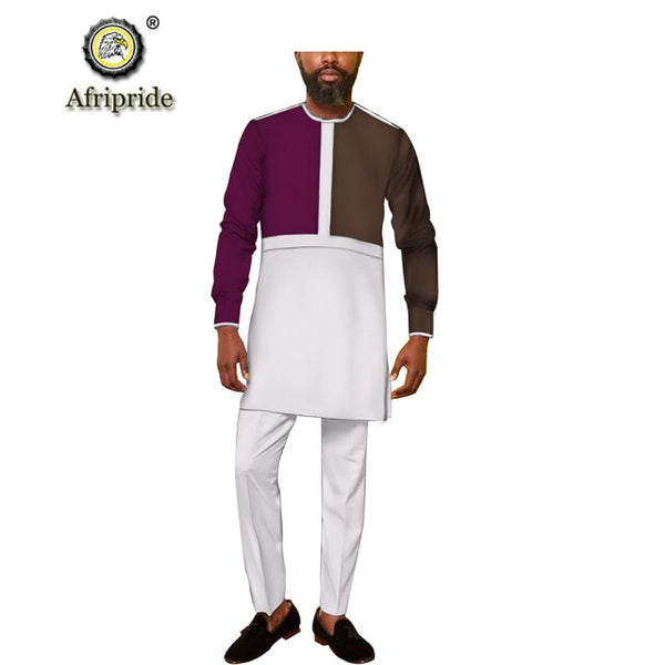 African Men Traditional Top and Pants Set Senator Y31819