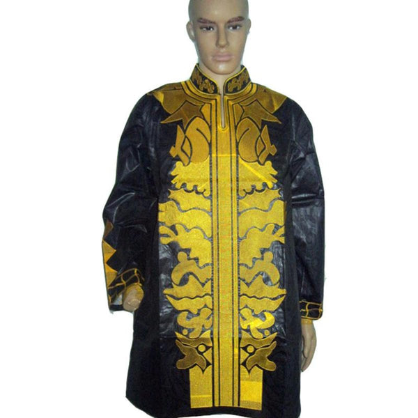 African Bazin Brocade EmbroideryTop with Pants For Man Y20735