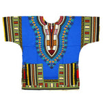 African Unisex Angelina Dashiki 100% Cotton Print Top For Men or  T00447