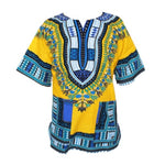 Unisex Dashiki Traditional Print 100% cotton Tops for Men and Women T00446