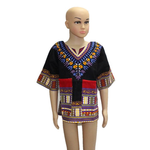 Children'S New Design Traditional African Clothing Print Dashiki Dress W11574