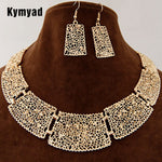 Kymyad African Indian Jewelry Set Flower Hollowed Jewelry Sets Chunky Q50212