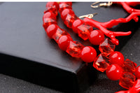Moon Girl Design Bridal Wedding Artificial Coral Jewelry Sets Fashion Q50231