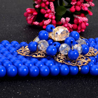 New Nigerian Wedding Jewelry Sets Indian Bride Accessories Crystal Flower Q50218