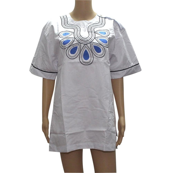 Novelty Women T-Shirt Embroidery Lady Short-Sleev  X20391