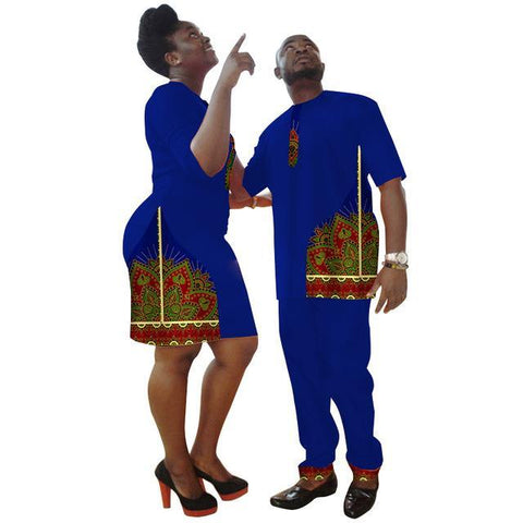 New Lovers Womens Mens African Clothing Two Sets Matching Couples V11711