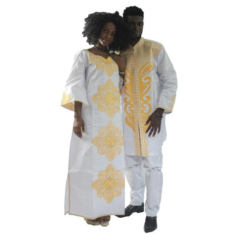 New Traditional Mens African Clothing For Men and Women Costume Bazin V21636