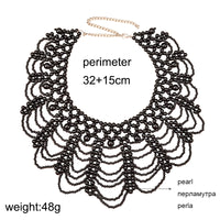 New Arrival Simulated Pearl Jewelry Bohemian Chokers Vintage Statement Q50215