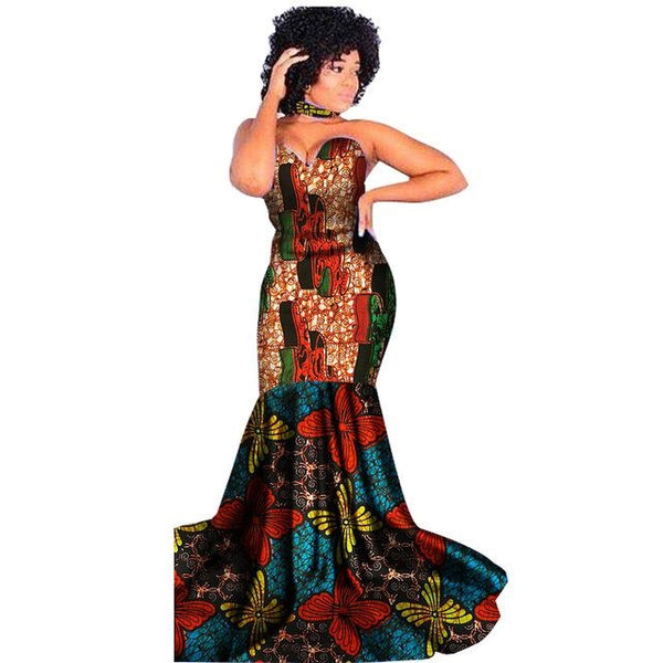 Dashiki Traditional African Custom Prom Dress For X11456