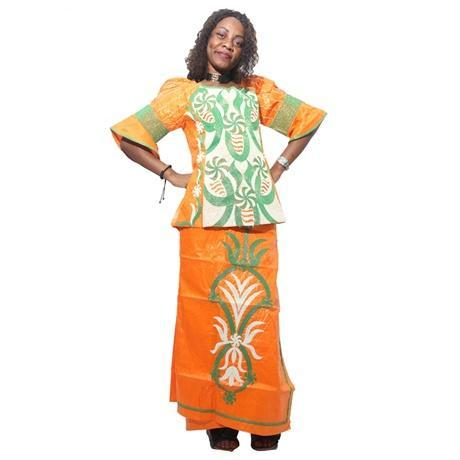 Free Shippingafrican Bazin Dress For Women Embroidered Cotton Tops X20963