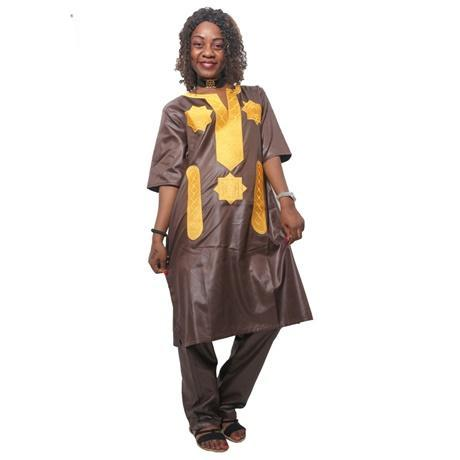 Women Dashiki Soft Fabric Blue Green Pint Top-Pants With Embroidery X20652