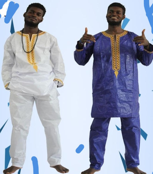Free Shippingnew African Men Dashiki Bazin Pants Clothing Rich Mens Y20770