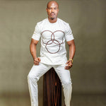 African Men Clothing Embroidered dashiki White o-Neck Shirt with Y20726