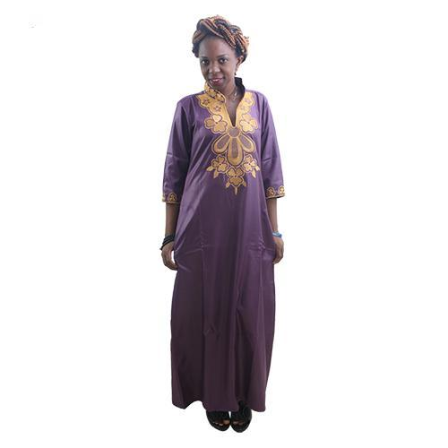 African Clothing Embroidered Dashiki Long Dress Caftan For Women  X21182