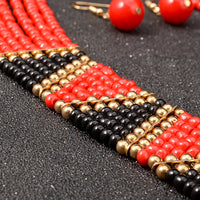 African Bead Jewelry Sets Bohemian Necklace Pendant Multi Layer  Q50214