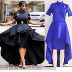 Blue Red Black White Ruffle Dress African Dresses For Women X40358