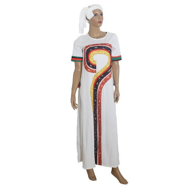 Traditional African Cloth For Women Loose Long Maxi Casual Dress X40361