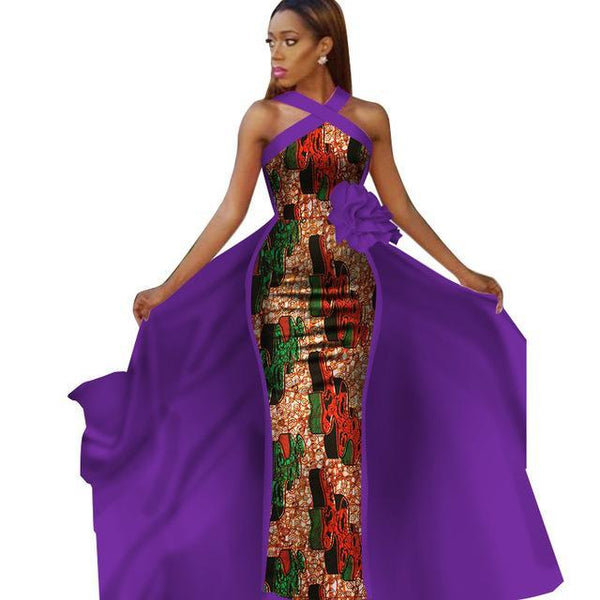 African Clothing  Ankara Dashiki Kanga Long Sleeveless Dress For Women  Cotton Wax Print Plus Size - Afrinspiration