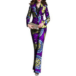 African Print Women Blazers with Pants Ankara Suit-Pants Set for Ladies X10714