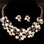 Zoshi Elegant Simulated Pearl Bridal Jewelry Sets Wedding Jewelry Leaf Q50144