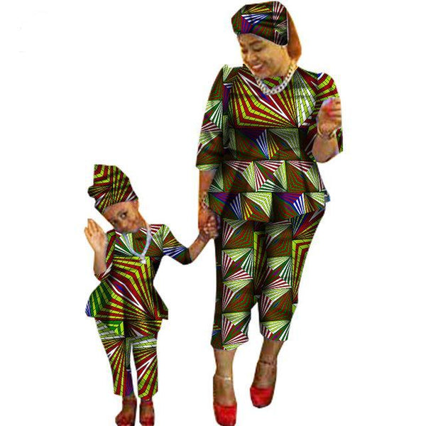 New Sale Traditional Fashion Matching Dashiki Clothes Mother and V11587