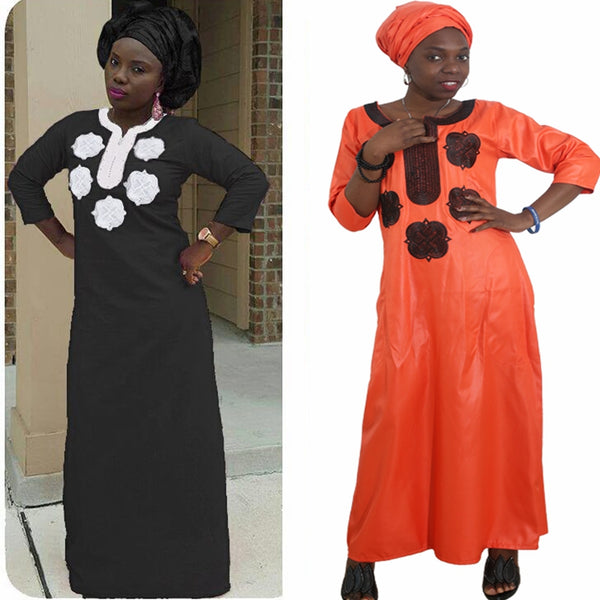 African Women Clothing Long Africaine Robe witheadwraps Ropa Africana X21169
