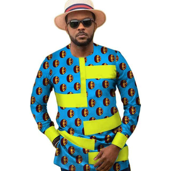 Traditional African Print Shirt For Men Y10502