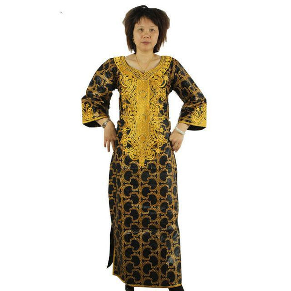 African Clothing Embroidered Dashiki Long Dress Caftan Style For  X21313