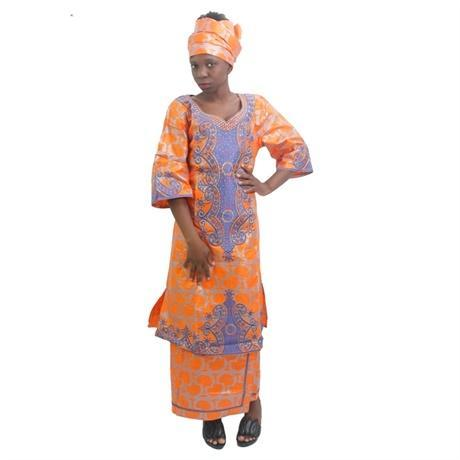 New African Dresses Bazin 100 Cotton Africa In Traditional Riche Woman X20966