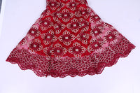 African Women Vestidos Bazin Riche Lace Crop Top-Skirt X30907