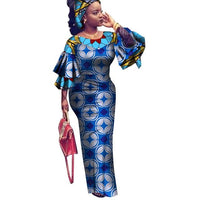African Dress For Women Vintage Maxi Long  X11461