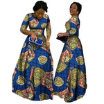 Dashiki Wax Print Long Sleeve Prom Dress For X11466