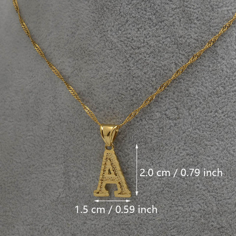 English Small Letters Necklace Women/Girls Gold Color Initial Pendant Q50120