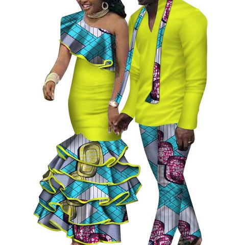 African Dashiki Top and Pants and Matching Dress Set for V11643