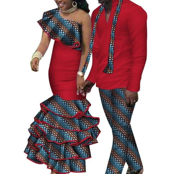 African Dashiki Top and Pants and Matching Dress Set for V11643-2