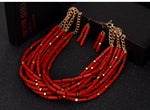 2 Color African Beads Long Necklace Indian Fashion Nigeria  Q50222