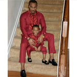 Dashiki Matchng Father Son Thick Embroidery Clothing Man and V21593