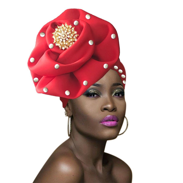 New African Ready To Wear Gele African Head Wraps African Turban Q11721