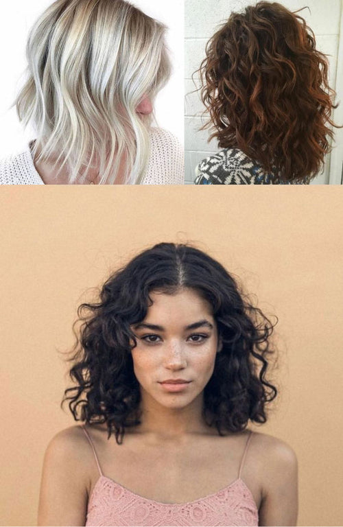 Women with wavy healthy hair