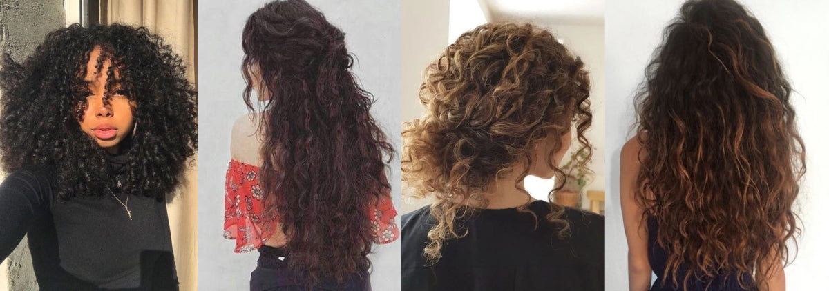 four all natural long dark curly hair styles