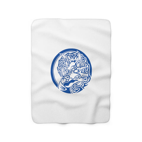 MMPR Blue Ranger Sherpa Fleece Blanket