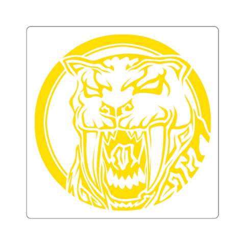 MMPR Yellow Ranger Square Sticker