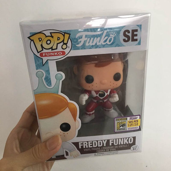 Fundays 2017 Exclusive Funko pop Official Freddy - Red Ranger Limited Edition 525pcs Vinyl Action Figure Collectible Model Toy