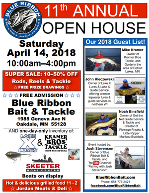 Super Sales at Blue Ribbon's Open House, Saturday, April 14th!