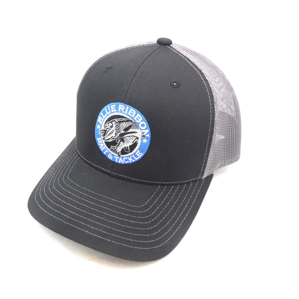 Blue Ribbon Bait & Tackle | Black & Grey Adjustable Cap