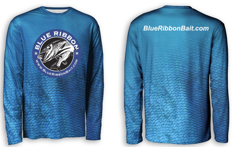 Scale Wear Design | Long Sleeve UPF 40 Jersey - Blue