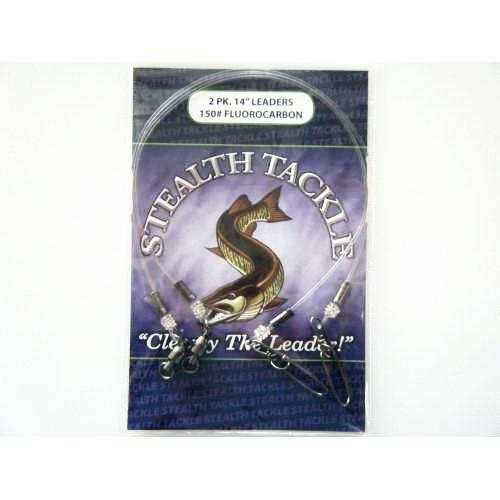 "Stealth Tackle | 14"" Fluorocarbon Leaders (2 pack) -  - Stealth Tackle - Blue Ribbon Bait & Tackle"
