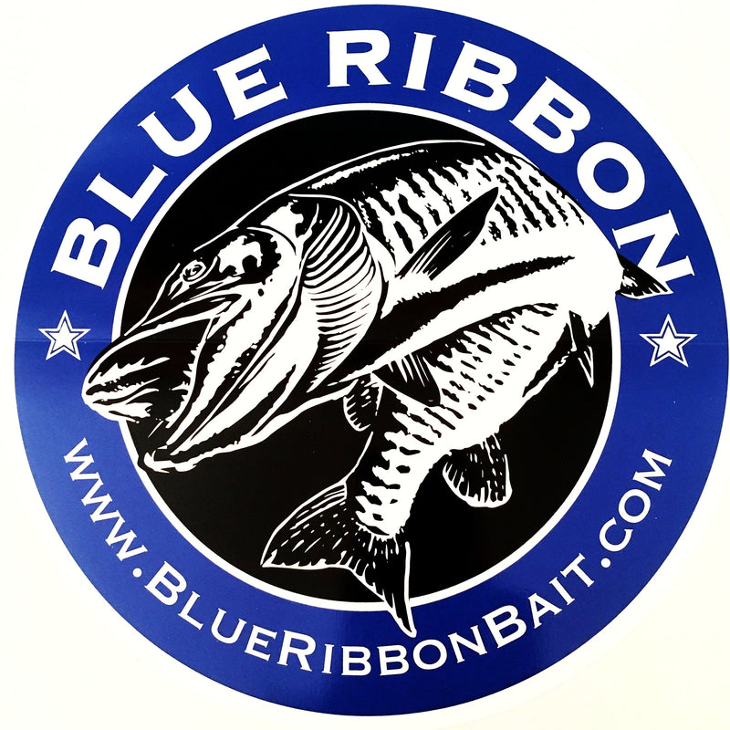 Blue Ribbon Bait & Tackle Sticker