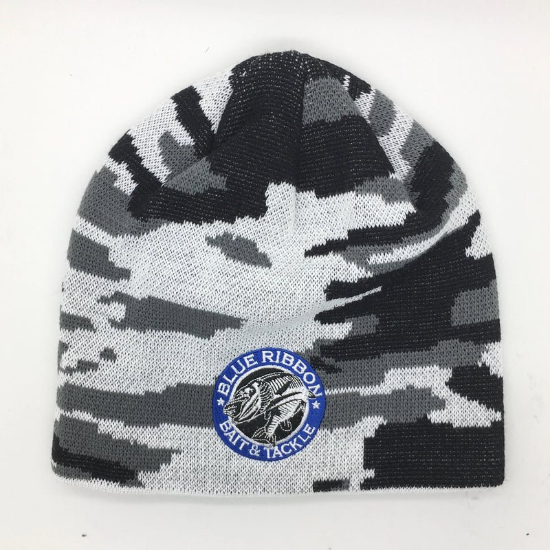 Blue Ribbon Bait & Tackle | Grey & Black Knit Hat