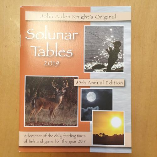 Solunar Tables: 2019
